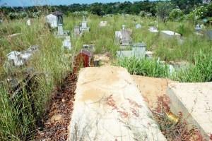Un cementerio insalubre y de tumbas destruidas (Fotos)