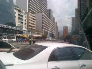 Restablecen el paso en la avenida Francisco de Miranda (Foto)