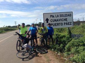 Recorrido por la Ruta de Gallegos en bicicleta por grupo Apure Rusty Bike (Fotos)