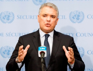 Duque hizo saber a la ONU de su compromiso con un diálogo nacional en Colombia