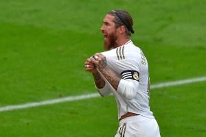 Sergio Ramos se entrenó con el grupo y podría disputar el Clásico del fútbol español