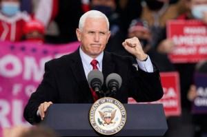 Vicepresidente Mike Pence emitió su voto anticipado en Indiana