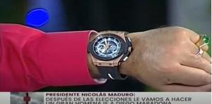 """Maduro alardeó con el """"relojito"""" que le regaló Maradona valorado en más de 40 mil dólares (VIDEO)"""