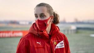Tiene 16 años y es la primera mujer en la Academia de Ferrari