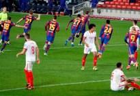 Barcelona se metió en la final de la Copa del Rey tras vencer al Sevilla con remontada