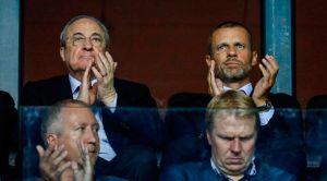 """El presidente de la Uefa carga contra Florentino Pérez: Quiere un mandatario """"obediente"""", no uno como yo"""