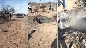 Descubren en México una fosa clandestina ARDIENDO con restos humanos (Videos)
