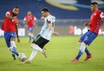 Un golazo de Messi no le bastó a Argentina para superar el empate con Chile en la Copa América