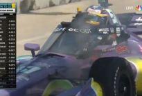 Grosjean escapó otra vez de su auto en llamas y tuvo que apagar el fuego (Video)