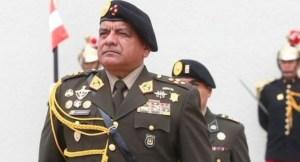Jefe de las Fuerzas Armadas de Perú renunció a tres de días del cambio de gobierno