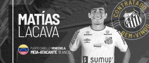 Santos oficializó la cesión del venezolano Matías Lacava hasta finales de 2022