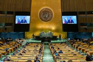 ¿A quién le habló Maduro? Discurso chavista volvió a quedarse sin oyentes en la ONU (FOTO)